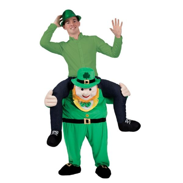 Adults Carry Me Leprechaun Costume for St Patricks Days Ireland Fancy Dress